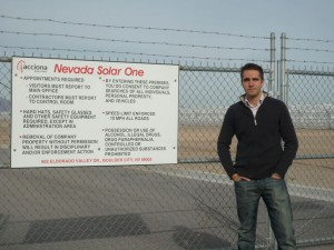 At the door of Nevada Solar One