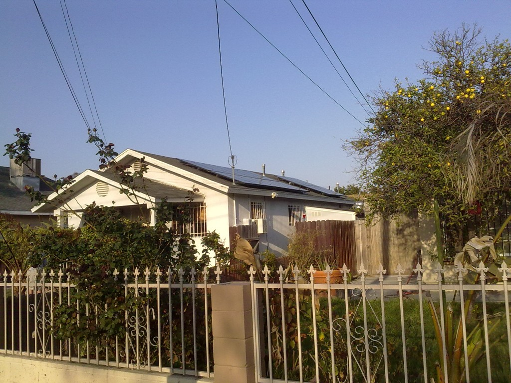 Solar PV Installation in Compton - Grid Alternatives